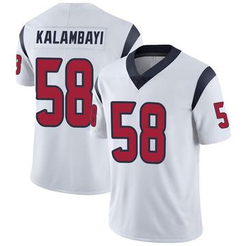 Youth Nike Houston Texans Peter Kalambayi White Vapor Untouchable Jersey - Limited