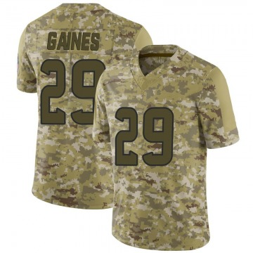 Youth Nike Houston Texans Phillip Gaines Camo 2018 Salute to Service Jersey - Limited