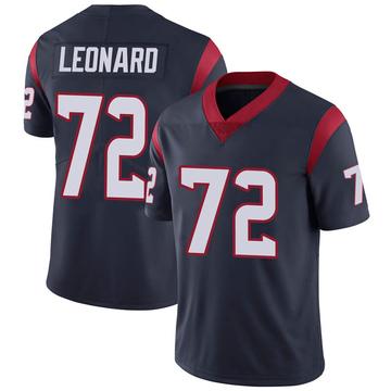 Youth Nike Houston Texans Rick Leonard Navy 100th Vapor Jersey - Limited