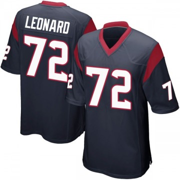 Youth Nike Houston Texans Rick Leonard Navy Blue Team Color Jersey - Game