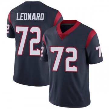 Youth Nike Houston Texans Rick Leonard Navy Blue Team Color Vapor Untouchable Jersey - Limited