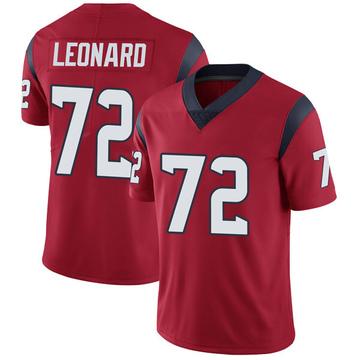 Youth Nike Houston Texans Rick Leonard Red Alternate Vapor Untouchable Jersey - Limited