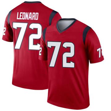 Youth Nike Houston Texans Rick Leonard Red Jersey - Legend