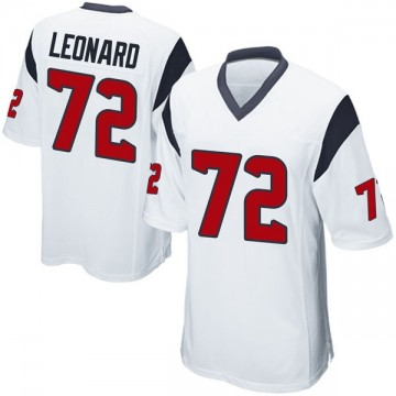 Youth Nike Houston Texans Rick Leonard White Jersey - Game
