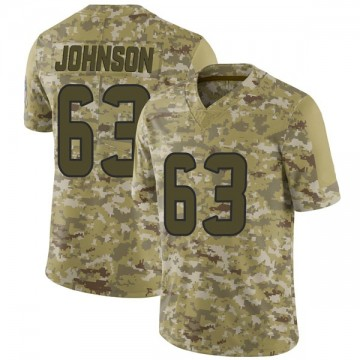 Youth Nike Houston Texans Roderick Johnson Camo 2018 Salute to Service Jersey - Limited