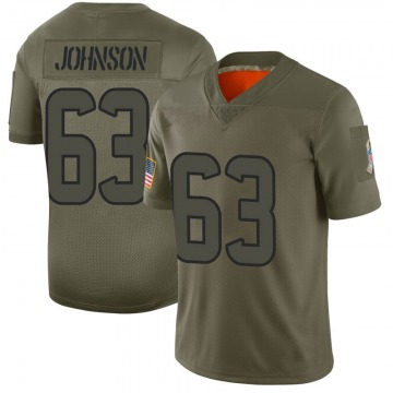 Youth Nike Houston Texans Roderick Johnson Camo 2019 Salute to Service Jersey - Limited