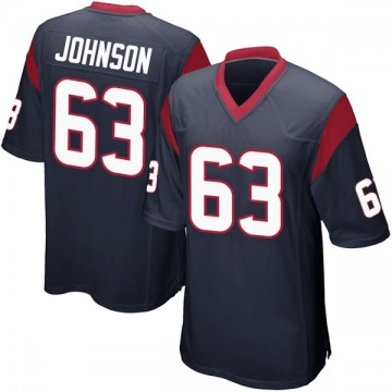 Youth Nike Houston Texans Roderick Johnson Navy Blue Team Color Jersey - Game
