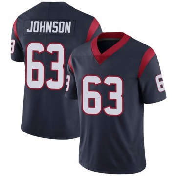 Youth Nike Houston Texans Roderick Johnson Navy Blue Team Color Vapor Untouchable Jersey - Limited