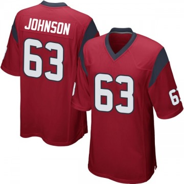 Youth Nike Houston Texans Roderick Johnson Red Alternate Jersey - Game
