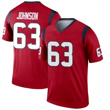 Youth Nike Houston Texans Roderick Johnson Red Jersey - Legend