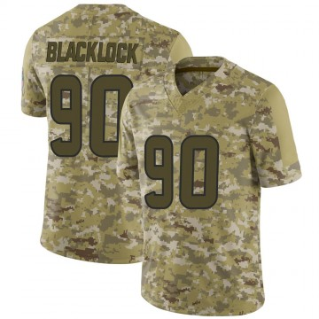 Youth Nike Houston Texans Ross Blacklock Black Camo 2018 Salute to Service Jersey - Limited