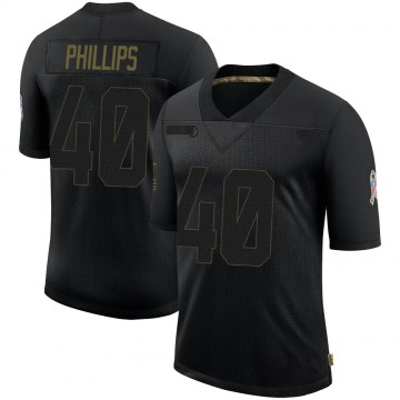 Youth Nike Houston Texans Scottie Phillips Black 2020 Salute To Service Jersey - Limited
