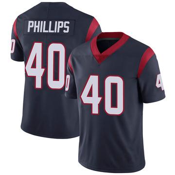 Youth Nike Houston Texans Scottie Phillips Navy Blue Team Color Vapor Untouchable Jersey - Limited