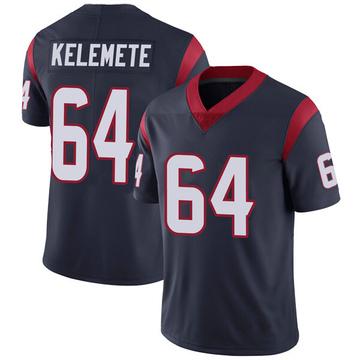 Youth Nike Houston Texans Senio Kelemete Navy Blue Team Color Vapor Untouchable Jersey - Limited
