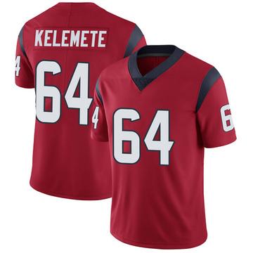 Youth Nike Houston Texans Senio Kelemete Red Alternate Vapor Untouchable Jersey - Limited