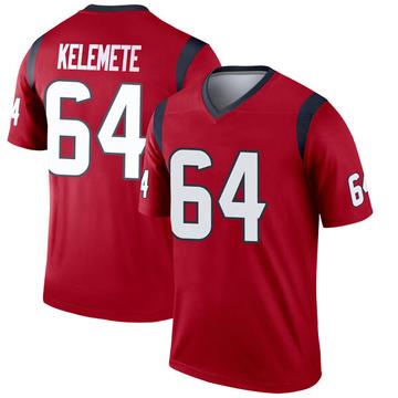 Youth Nike Houston Texans Senio Kelemete Red Jersey - Legend