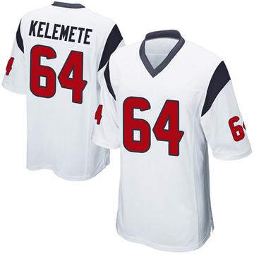 Youth Nike Houston Texans Senio Kelemete White Jersey - Game