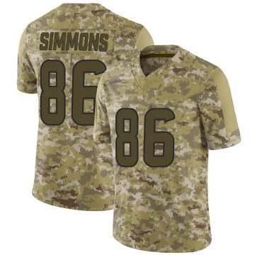 Youth Nike Houston Texans Tyler Simmons Camo 2018 Salute to Service Jersey - Limited