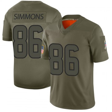 Youth Nike Houston Texans Tyler Simmons Camo 2019 Salute to Service Jersey - Limited