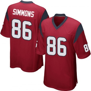 Youth Nike Houston Texans Tyler Simmons Red Alternate Jersey - Game