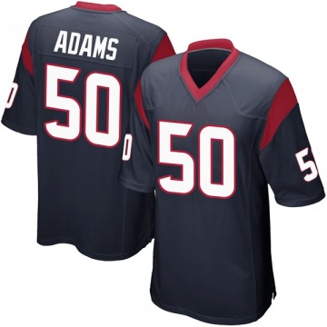 Youth Nike Houston Texans Tyrell Adams Navy Blue Team Color Jersey - Game