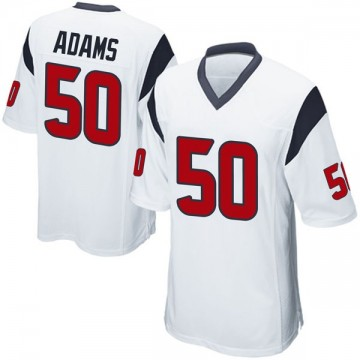 Youth Nike Houston Texans Tyrell Adams White Jersey - Game