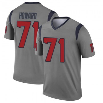 Youth Nike Houston Texans Tytus Howard Gray Inverted Jersey - Legend