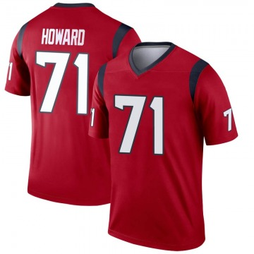 Youth Nike Houston Texans Tytus Howard Red Jersey - Legend