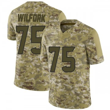 Youth Nike Houston Texans Vince Wilfork Camo 2018 Salute to Service Jersey - Limited