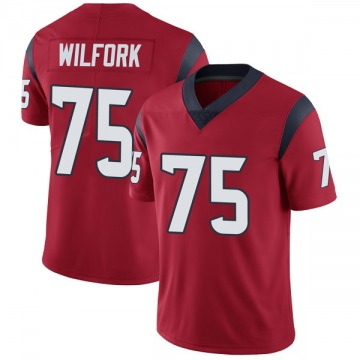 Youth Nike Houston Texans Vince Wilfork Red Alternate Vapor Untouchable Jersey - Limited