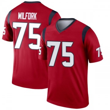 Youth Nike Houston Texans Vince Wilfork Red Jersey - Legend