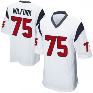 Youth Nike Houston Texans Vince Wilfork White Jersey - Game