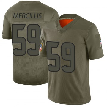 Youth Nike Houston Texans Whitney Mercilus Camo 2019 Salute to Service Jersey - Limited