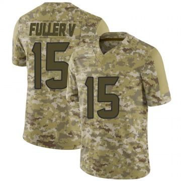 Youth Nike Houston Texans Will Fuller V Camo 2018 Salute to Service Jersey - Limited