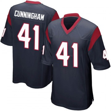 Youth Nike Houston Texans Zach Cunningham Navy Blue Team Color Jersey - Game