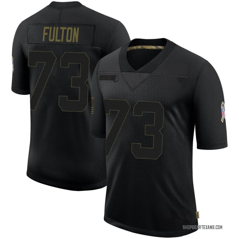 Youth Nike Houston Texans Zach Fulton Black 2020 Salute To Service Jersey - Limited